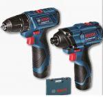 Porovnat ceny BOSCH GSR 120-LI + GDR 120-LI vŕtací skrutkovač + rázový uťahovák 0.601.9F0.002