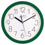 Porovnání ceny Zelené plastové nástěnné netikající tiché hodiny JVD sweep HP612.13