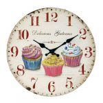 Porovnání ceny Nástěnné hodiny Cupcake, pr. 34 cm - Nástěnné hodiny Cupcake, pr. 34 cm