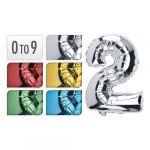 Porovnání ceny Balón narozeninový 35 cm, čísla 0-9, mix barev, 1ks