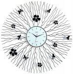 Porovnání ceny Kovové paprskovité luxusní nástěnné designové hodiny JVD HJ29
