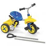 Porovnat ceny Rolly toys Pedálová trojkolka s vodiacou tyčou modrá
