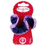 Porovnat ceny Gumička látková Princesse Lili textilná, fialová, priemer 6 cm