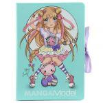 Porovnat ceny Top Model Zápisník s bločkami Manga Model Manga Christy, tyrkysový