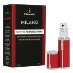 Porovnat ceny Plniteľný flakón Travalo Milano, červený, 5 ml