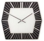 Porovnání ceny Nástěnné hodiny Hexagon Designové černé 43 x 43 cm - NEXTIME