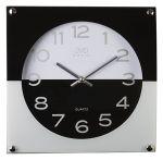 Porovnání ceny Moderní skleněné černo bílé nástěnné hodiny JVD N28114.2