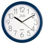 Porovnání ceny Modré plastové nástěnné netikající tiché hodiny JVD sweep HP612.17