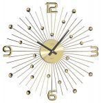 Porovnání ceny Luxusní moderní zlaté kovové nástěnné hodiny JVD HT074.1