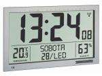Porovnání ceny TFA Dostmann Nástěnné DCF hodiny TFA 60.4517.54 s češtinou a teploměrem/vlhkoměrem - velikost XL