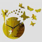 Porovnání ceny Živá Zeď Nástěnné hodiny Měsíc v úplňku - 3 barvy Barva: Zlatá 45 x 45 cm