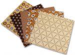 Porovnání ceny Folia - Max Bringmann Origami papír Basics 80 g/m2 - 20 x 20 cm, 50 archů - hnědý