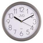 Porovnání ceny Stříbrné plastové nástěnné netikající tiché hodiny JVD sweep HP612.7