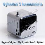 Porovnat ceny Prenosný mini reproduktor, prehrávač RC08 + Mp3 prehrávač + rádio