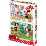 Porovnání ceny Dino Puzzle Disney Mickey Mouse pracující Minnie 2 x 66 dílků