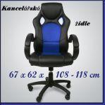 Porovnat ceny HW Kancelárska stolička kreslo SPORT KA-DO22 modrá