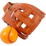Porovnání ceny Teddies Baseballová rukavice s míčkem 17 x 21 cm