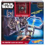 Porovnání ceny Hot Wheels Star Wars Hrací set s hvězdnou lodí - TIE Fighter Blast