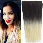 Porovnat ceny Clip in vlasy - 60 cm dlhý pás vlasov - ombre štýl (odtieň 2 T 613) - Světové Zboží
