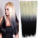 Porovnat ceny Clip in vlasy - 60 cm dlhý pás vlasov - ombre štýl (odtieň 613 T Black) - Světové Zboží