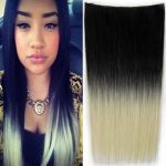 Porovnat ceny Clip in vlasy - 60 cm dlhý pás vlasov - ombre štýl (odtieň Black T613) - Světové Zboží