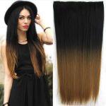 Porovnat ceny Clip in vlasy - 60 cm dlhý pás vlasov - ombre štýl (odtieň Black T 27) - Světové Zboží