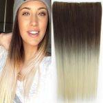 Porovnat ceny Clip in vlasy - 60 cm dlhý pás vlasov - ombre štýl (odtieň 10 T 613) - Světové Zboží