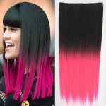 Porovnat ceny Clip in vlasy - 60 cm dlhý pás vlasov - ombre štýl (odtieň Black T Pink) - Světové Zboží