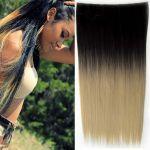 Porovnat ceny Clip in vlasy - 60 cm dlhý pás vlasov - ombre štýl (odtieň Black T 16) - Světové Zboží