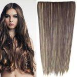Porovnat ceny Clip in vlasy - 60 cm dlhý pás vlasov - odtieň (F22/4 (melír svetlo plavej v čokoládovo hnedej)) - Světové Zboží