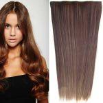 Porovnat ceny Clip in vlasy - 60 cm dlhý pás vlasov - odtieň (F6A/4 (melír nugátovo hnedej v čokoládovo hnedej)) - Světové Zboží