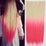 Porovnat ceny Clip in vlasy - 60 cm dlhý pás vlasov - ombre štýl (odtieň 613 T Pink) - Světové Zboží