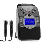 Porovnání ceny Auna ScreenStar, černý, karaoke systém, kamera, CD, USB, SD, MP3, včetně 2 mikrofonů (KS1-539black)