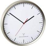 Porovnání ceny DCF nástěnné hodiny TFA 60.3521.02, vnější Ø 30.5 cm, nerezová ocel kartáčovaná