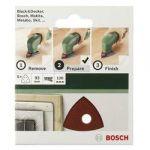 Porovnání ceny Brusný papír pro delta brusky Bosch Accessories 2609256A53 na suchý zip, s otvory, Zrnitost 240, 5 ks