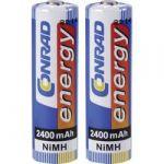 Porovnání ceny Akumulátor Conrad energy, NiMH, AA, 2400 mAh, 2 ks