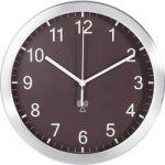 Porovnání ceny Analogové DCF nástěnné hodiny TFA 98.1091.08, Ø 25 x 4 cm, hliník, hnědá