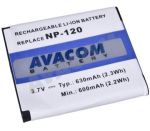 Porovnání ceny AVACOM Casio NP-120 Li-Ion 3.6V 630mAh 2.3Wh (DICS-N120-334)