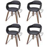 Porovnat ceny 271945 vidaXL 4 jedálenské stoličky z ohýbaného dreva s koženkovým čalúnením