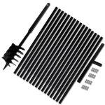 Porovnat ceny 270534 vidaXL Zemná vŕtačka 180mm s rukoväťou a 17 m oceľovou predlžovacou rúrkou