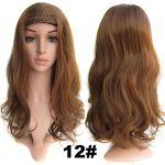 3b9073933 Poloparochňa - 3/4 parochňa s čelenkou z pletených vlasov (12 (karamelovo  hnedá)) - Světové Zboží