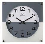 Porovnání ceny Skleněné módní šedo bílé nástěnné hodiny JVD N28114.3