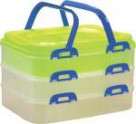 Porovnání ceny Hobby Life Piknikový box 3 patrový zelený