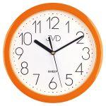 Porovnání ceny Moderní oranžové dětské nástěnné netikající tiché hodiny JVD sweep HP612.11