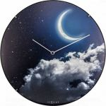 Porovnání ceny NeXtime Designové nástěnné luminiscenční hodiny Nextime 3177 New Moon 35cm