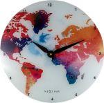 Porovnání ceny NeXtime Designové nástěnné hodiny 8187 Nextime Colorful World 43cm