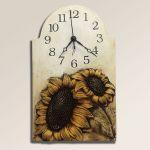 Porovnání ceny autorské hodiny Velké keramické nástěnné hodiny Slunečnice