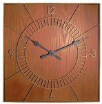 Porovnání ceny NeXtime Designové nástěnné hodiny 3112br Nextime Wood Square 50cm