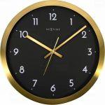 Porovnání ceny NeXtime Designové nástěnné hodiny 2523gb Nextime Arabic Golg Black 45cm