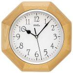 Porovnání ceny Nástěnné hodiny dřevěné ams 5512/18 hranaté v barvě buk, rádiem řízené